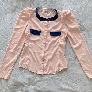 Burberry silk like top very soft. Gorgeous item!